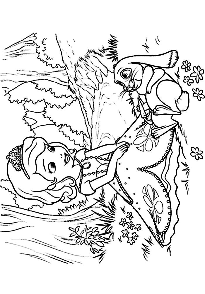 Раскраска для девочек 3 года распечатать бесплатно - 7