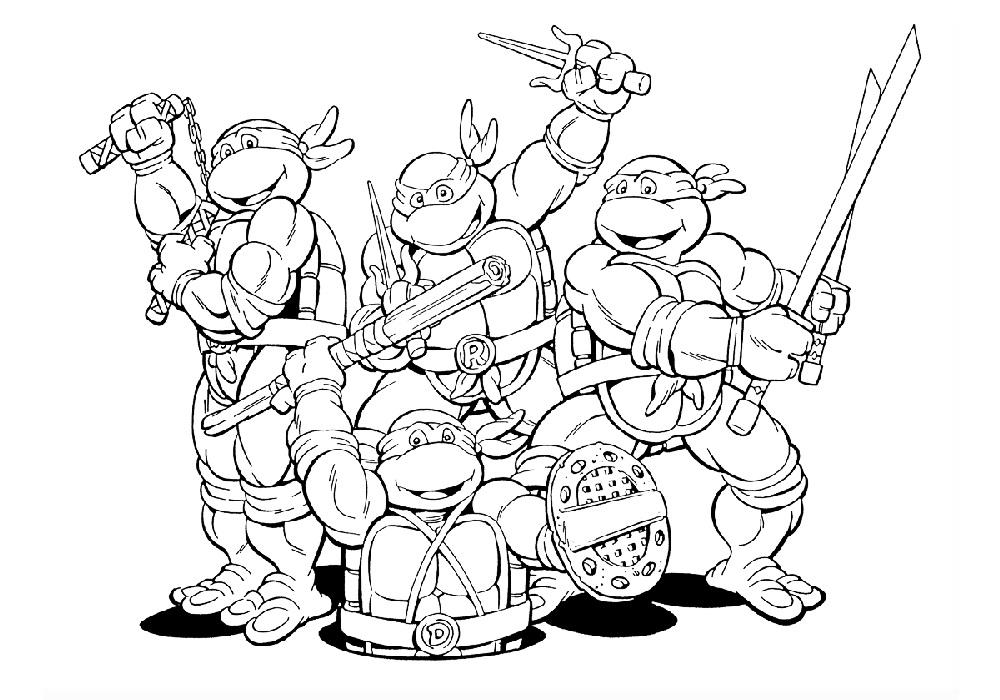 Игры разукраски черепашки ниндзя фильмы сергеем бодровым