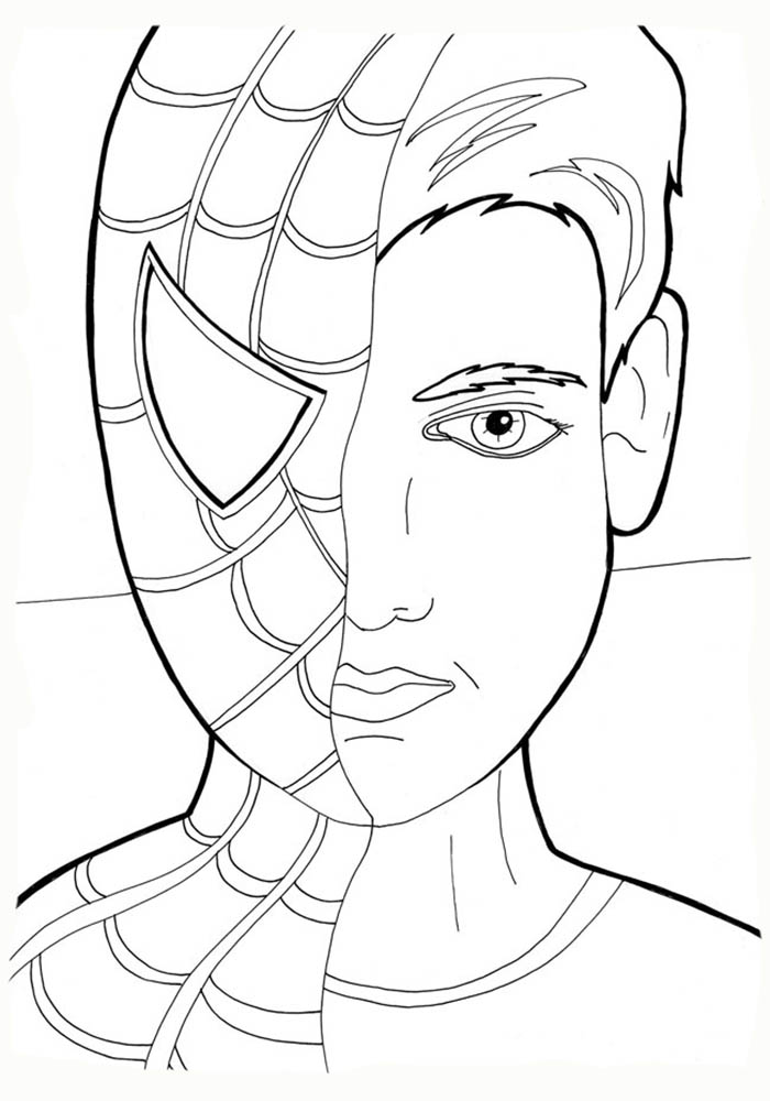 Картинки человек паук раскраски