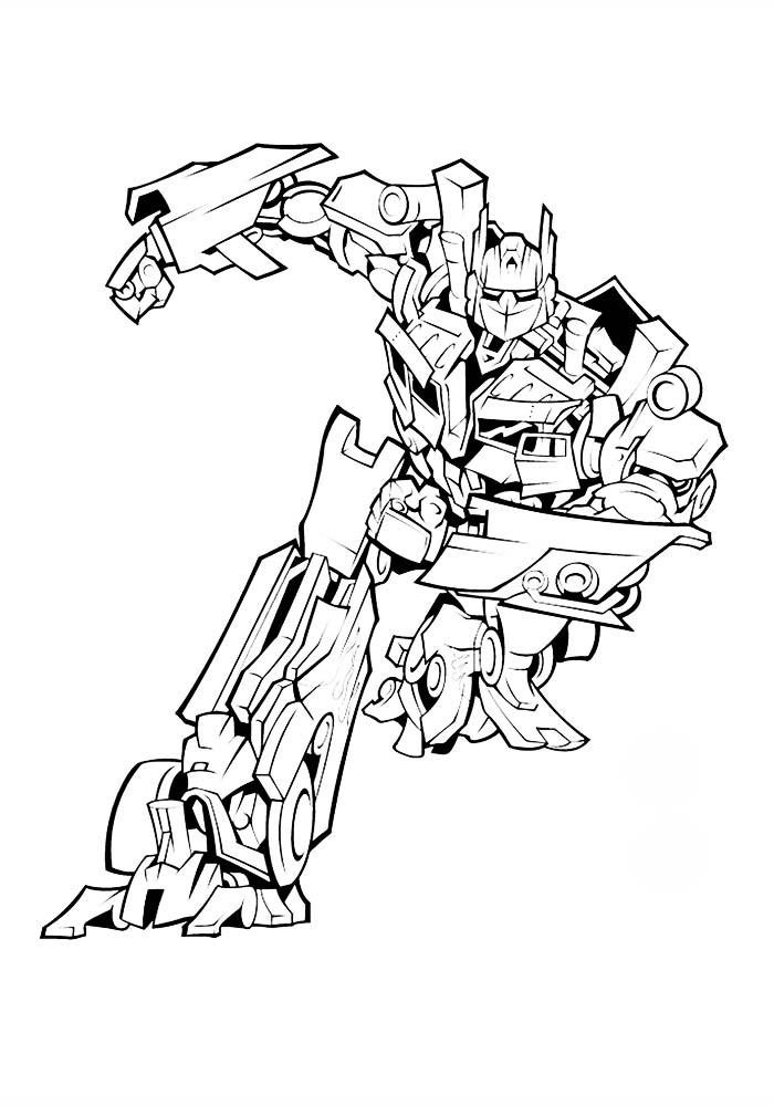 Раскраски для мальчиков трансформеры распечатать бесплатно - 5