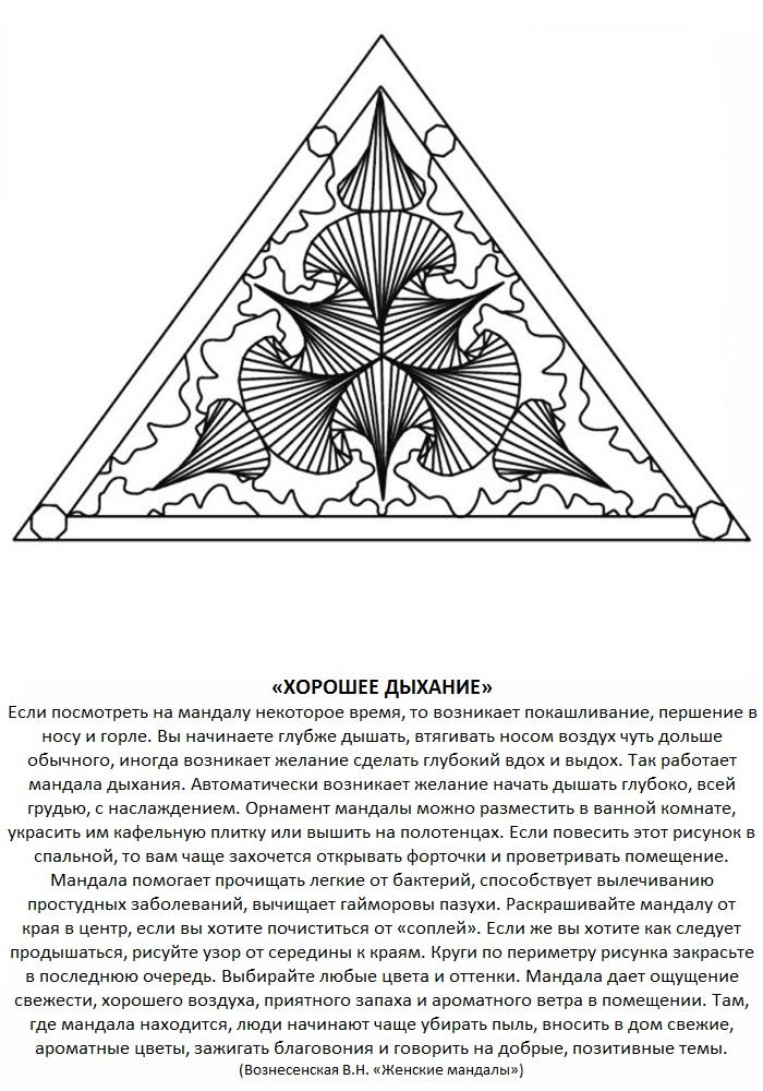 Значение мандалы раскраски со значением