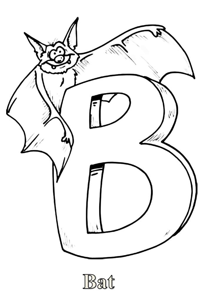 Раскраски английский алфавит с картинками