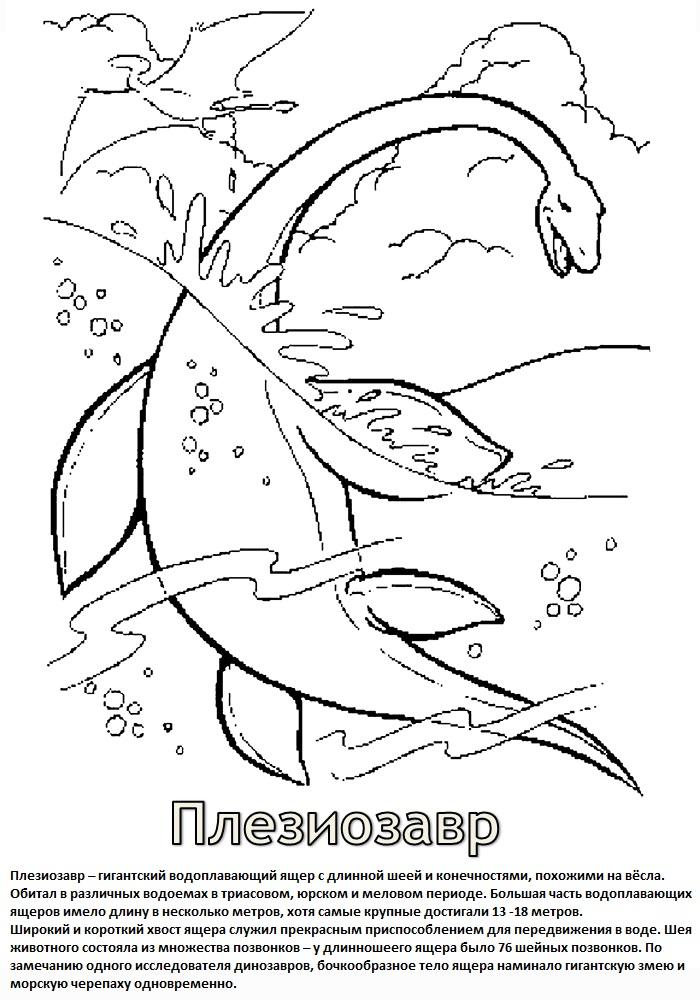Раскраски для мальчиков динозавры