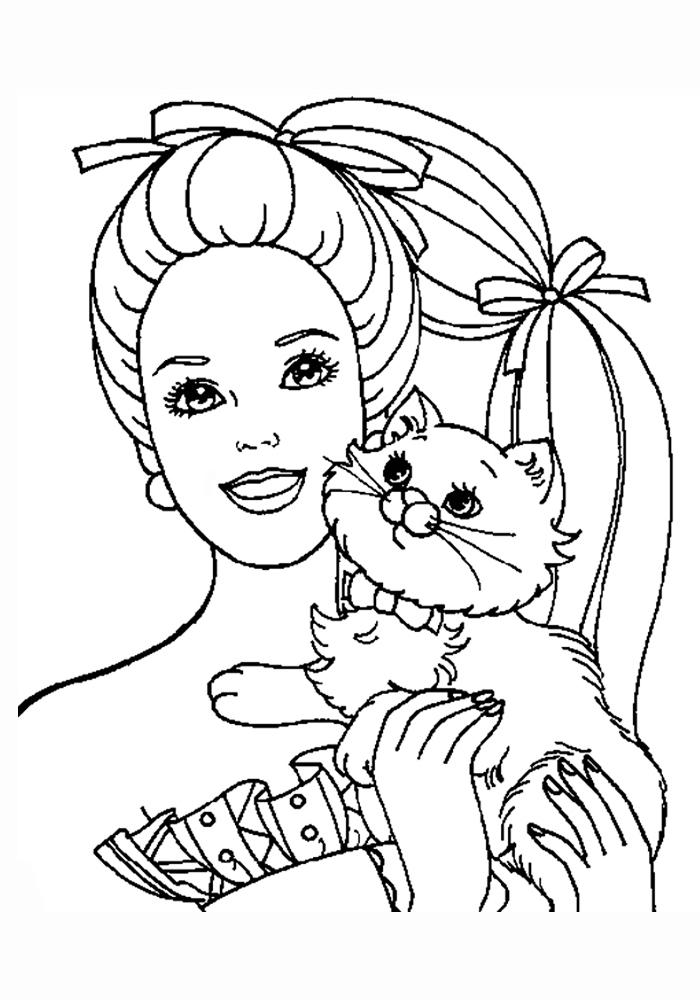 Раскраски для девочек кошки