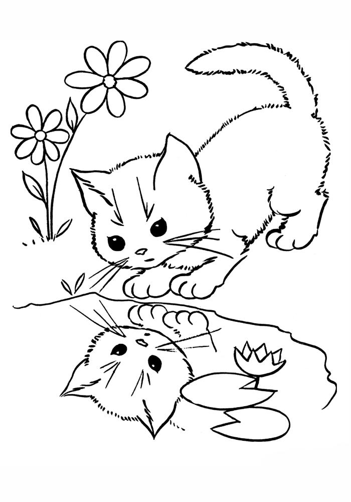 Раскраска для девочек котята онлайн - 1