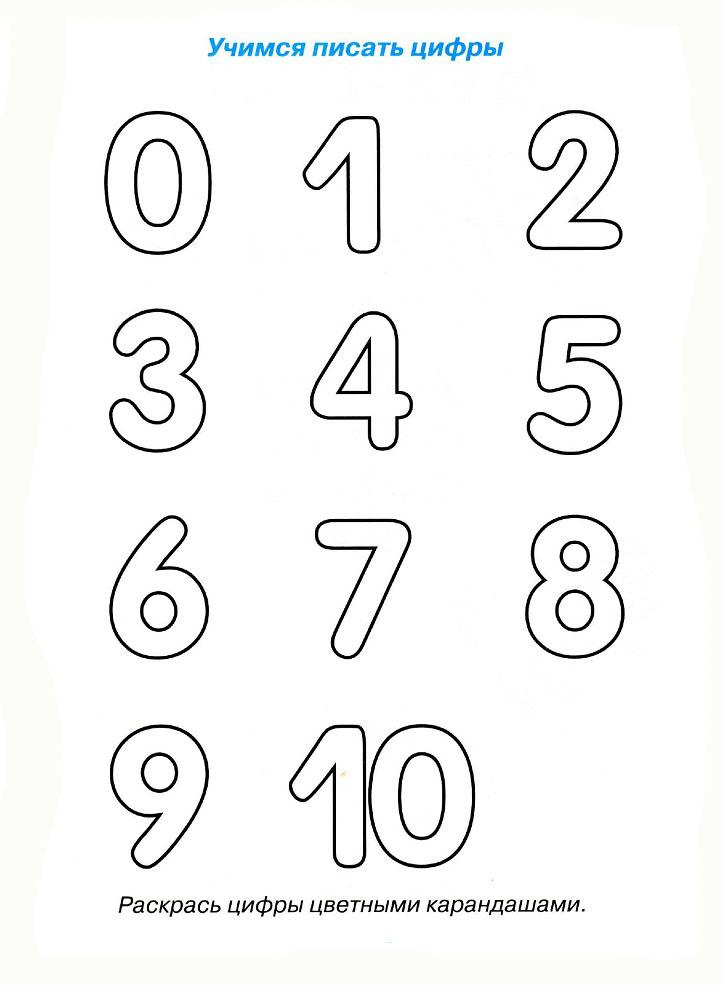Картинка цифры раскраски