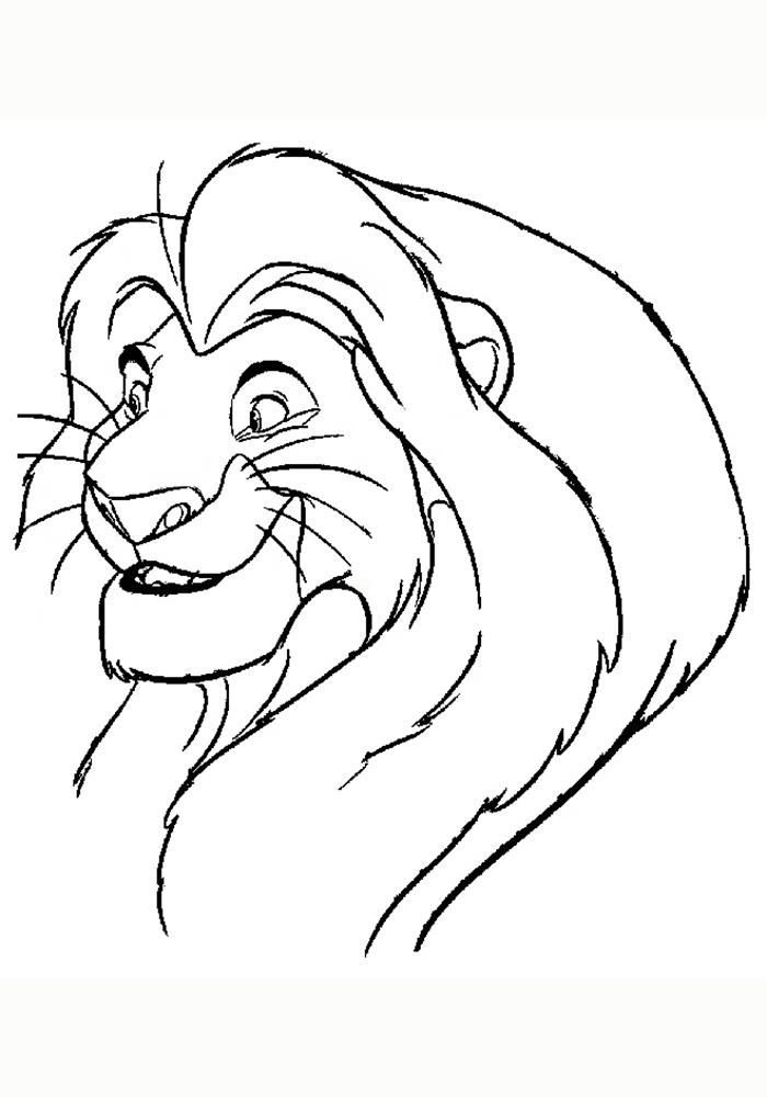 Король лев картинки раскраски