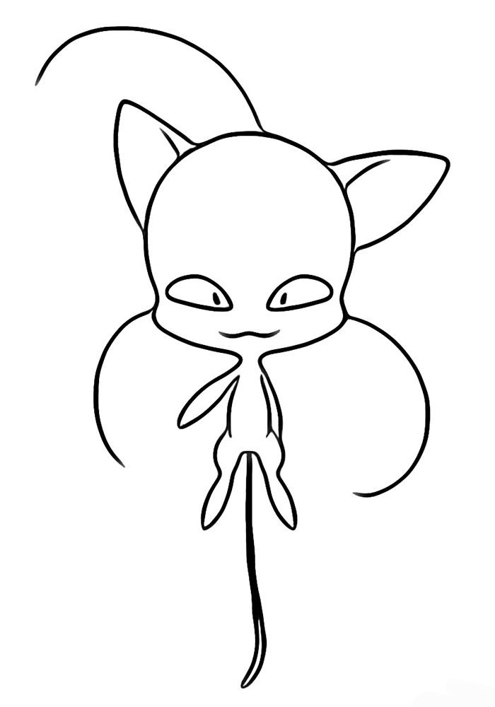 Ледибаг и супер кот раскраска