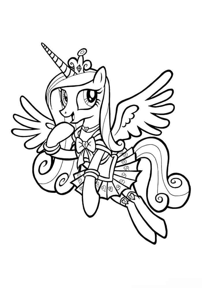 Принцесса раскраска бесплатно
