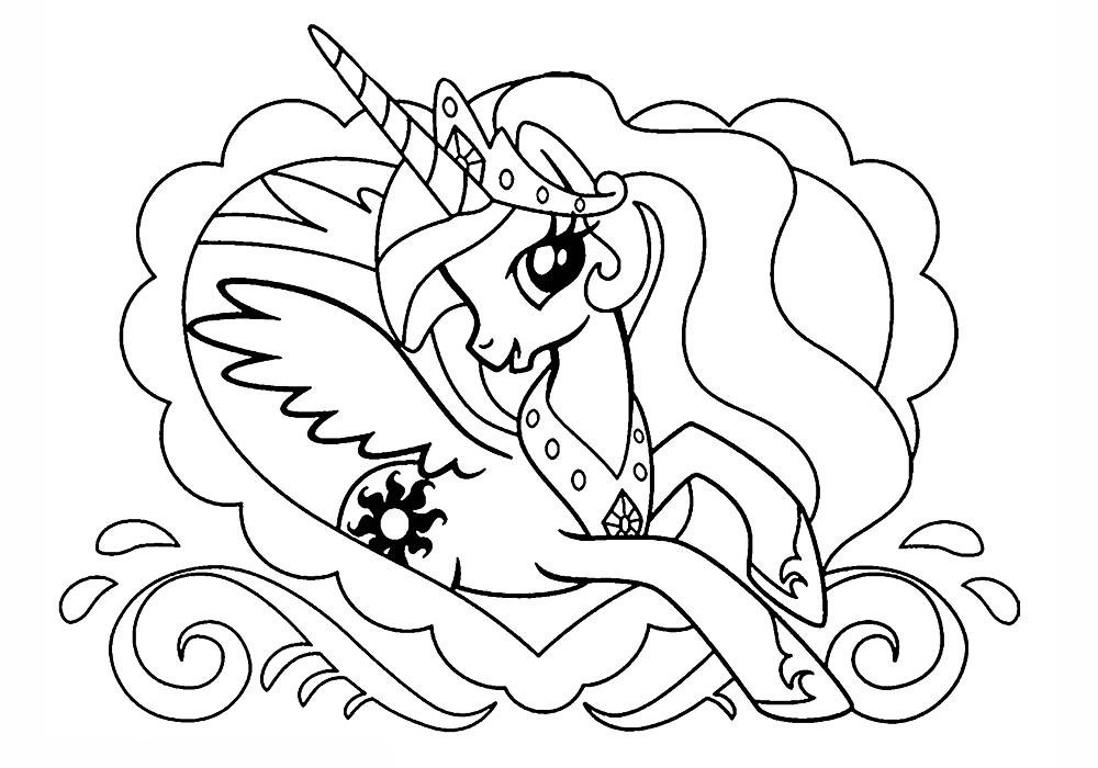 Новые раскраски литл пони