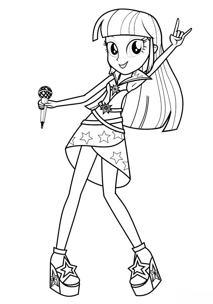 Раскраска девочки из эквестрии - 2