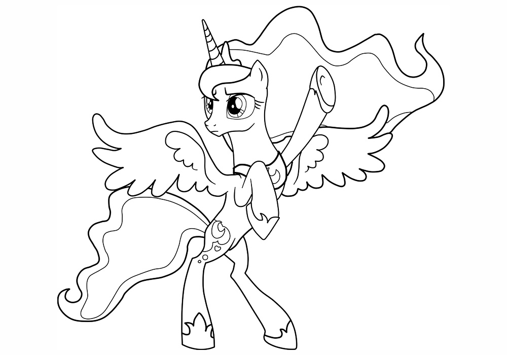 154Раскраска для девочек онлайн милая пони
