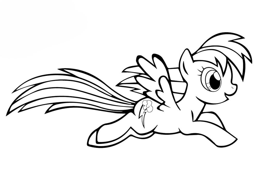 Лошадка радуга раскраска распечатать