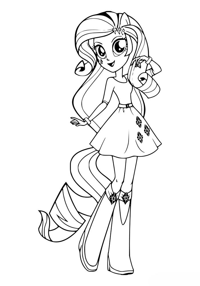 Раскраски пони девочки из эквестрии - 9