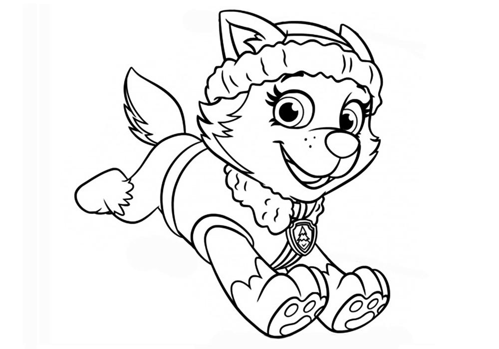Раскраска для девочек распечатать бесплатно щенячий патруль - 3