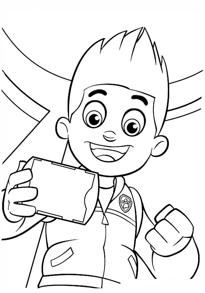 Раскраски для мальчиков щенячий патруль онлайн бесплатно - 5