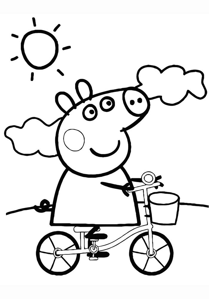 Картинки Свинка Пеппа Разукрашки