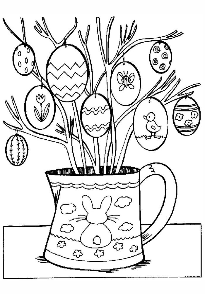 Лиса и кролик раскраска