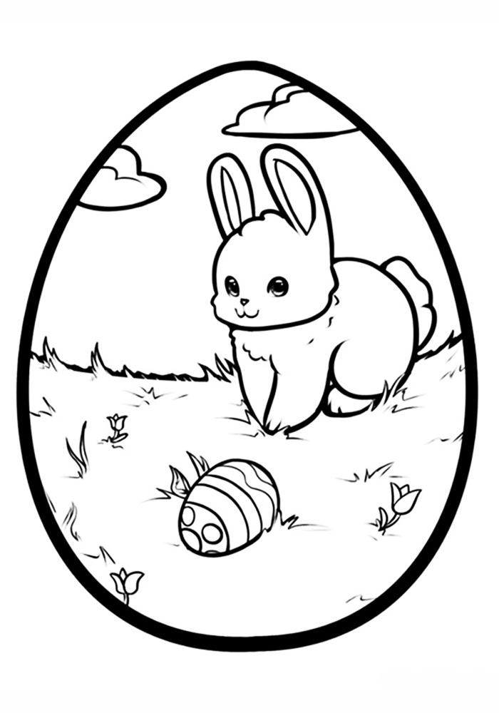 Пасхально яйцо раскраска