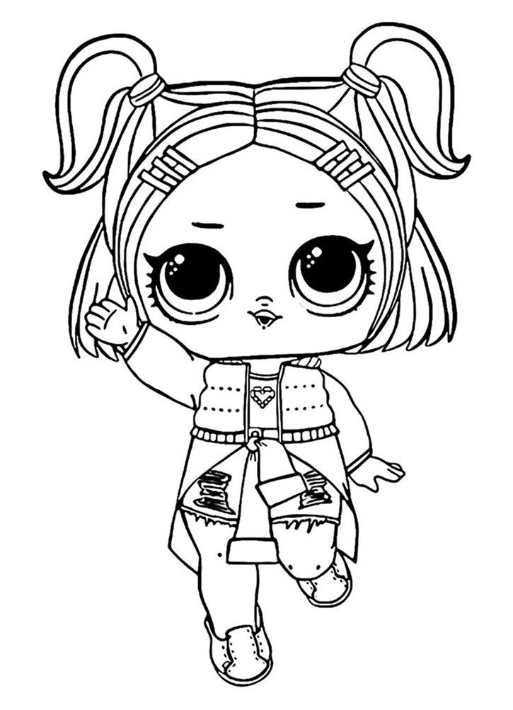Раскраска куклы ЛОЛ