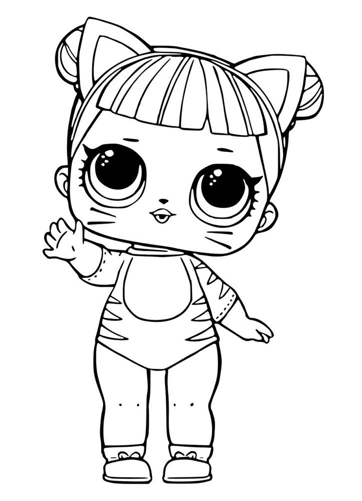 Раскраска ЛОЛ кукла