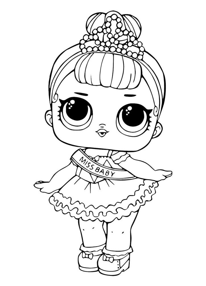 Раскраска кукла ЛОЛ