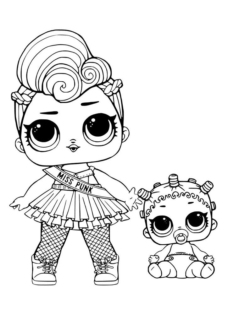 Раскраски кукол ЛОЛ