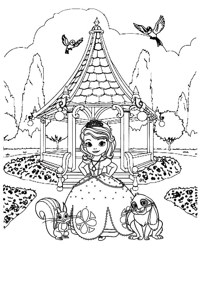 Принцесса София раскраски для детей
