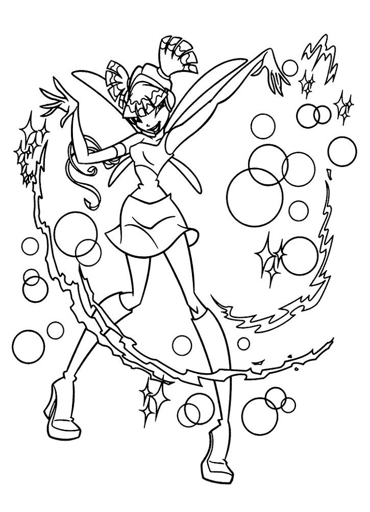Раскраска Муза из Винкс