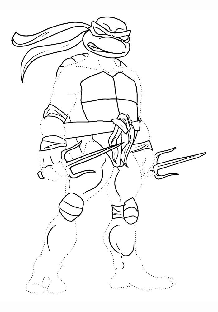 Черепашка ниндзя рисунок для детей
