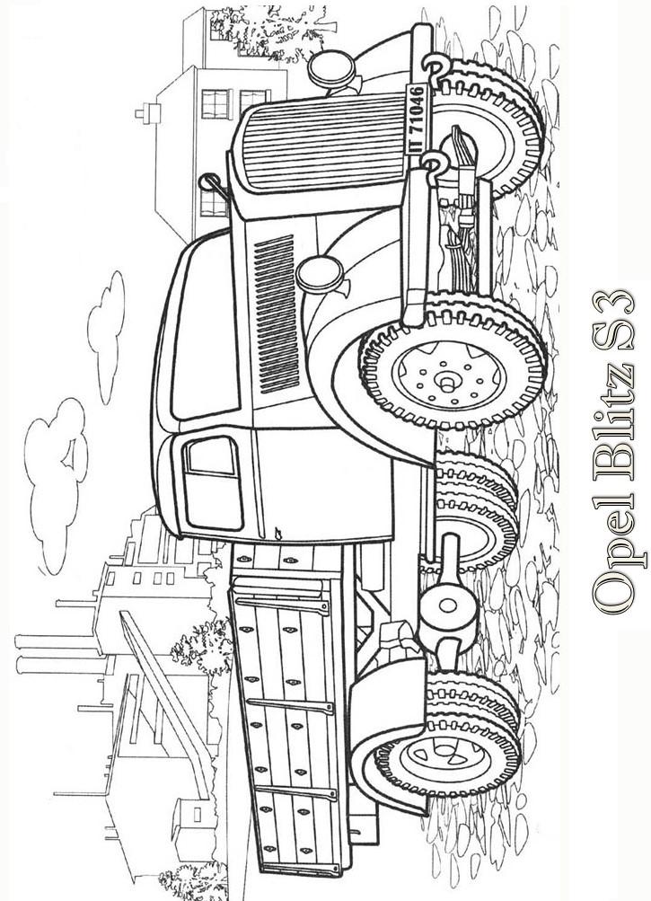 Раскраски для мальчиков машины грузовые