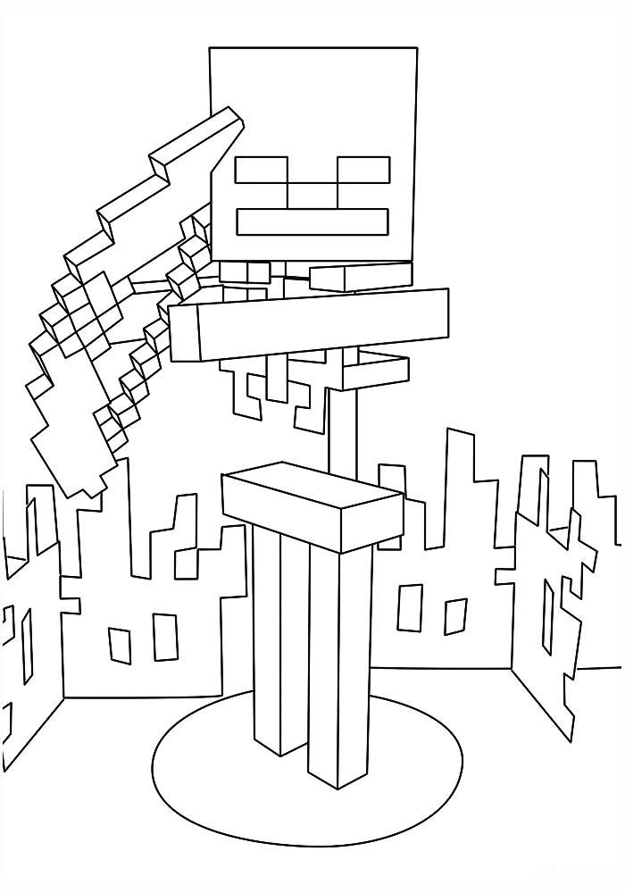 Картинки Майнкрафт раскраски