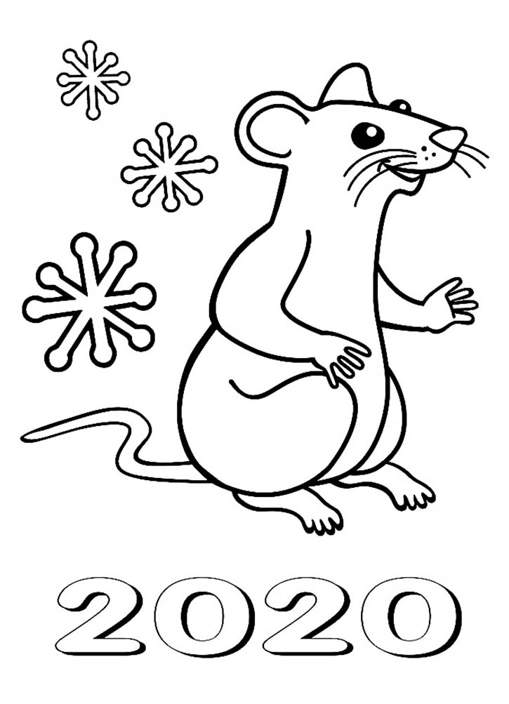 Раскраска крыса для детей