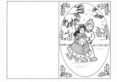 Новогодние открытки раскраски распечатать