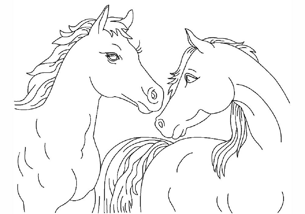 Картинки лошадей для раскраски