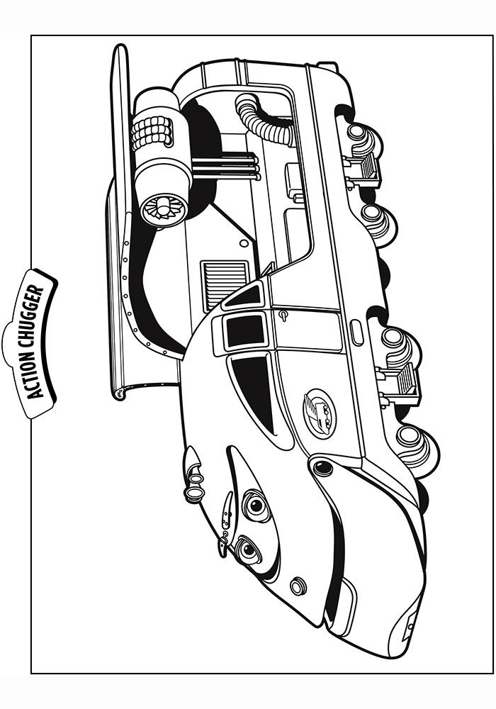 Раскраска паровозики из Чаггингтона
