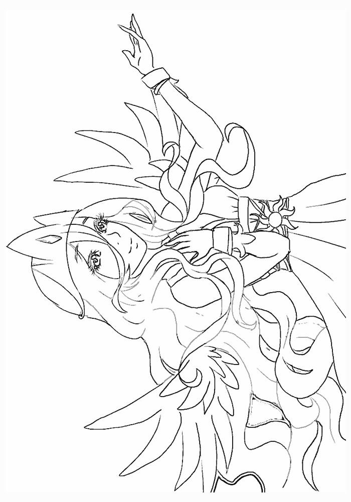 Раскраска май литл пони принцесса Селестия