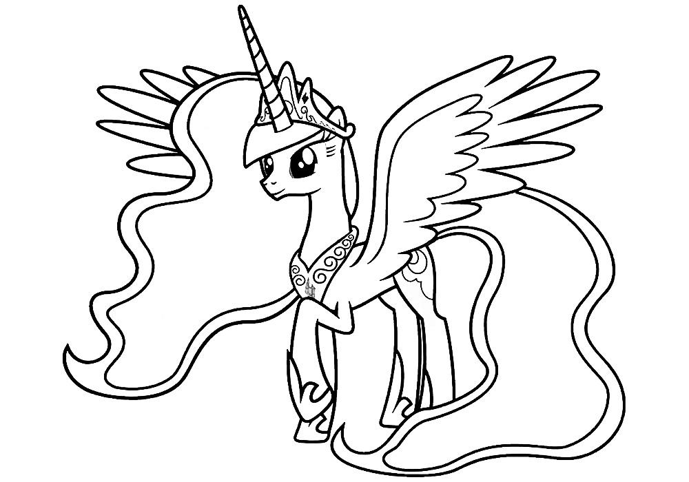 картинка принцесса для раскрашивания