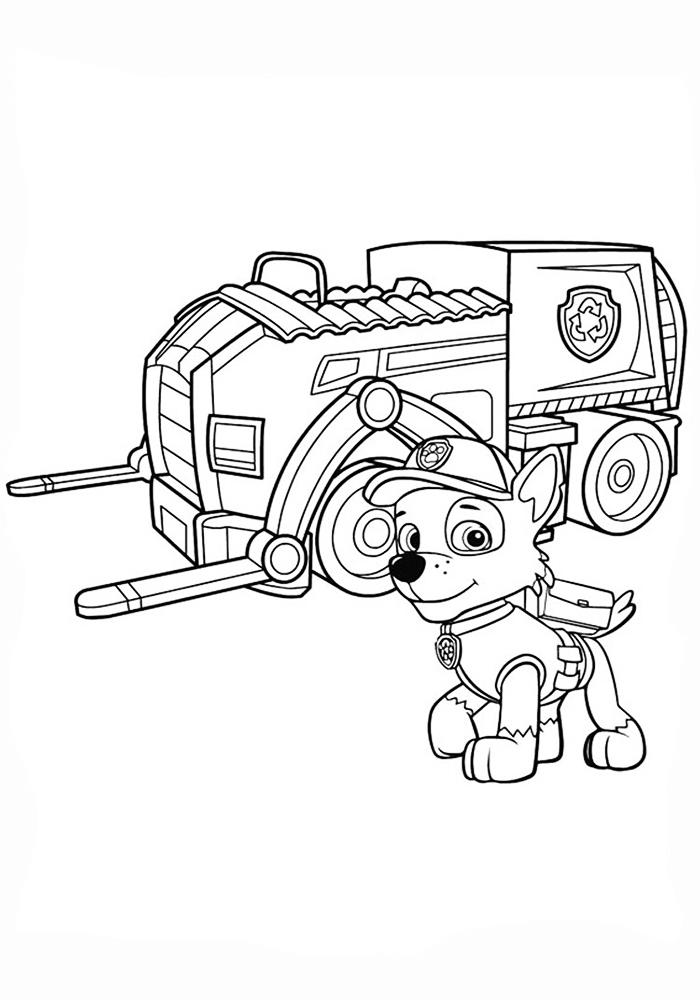Раскраска щенячий патруль машинки распечатать бесплатно