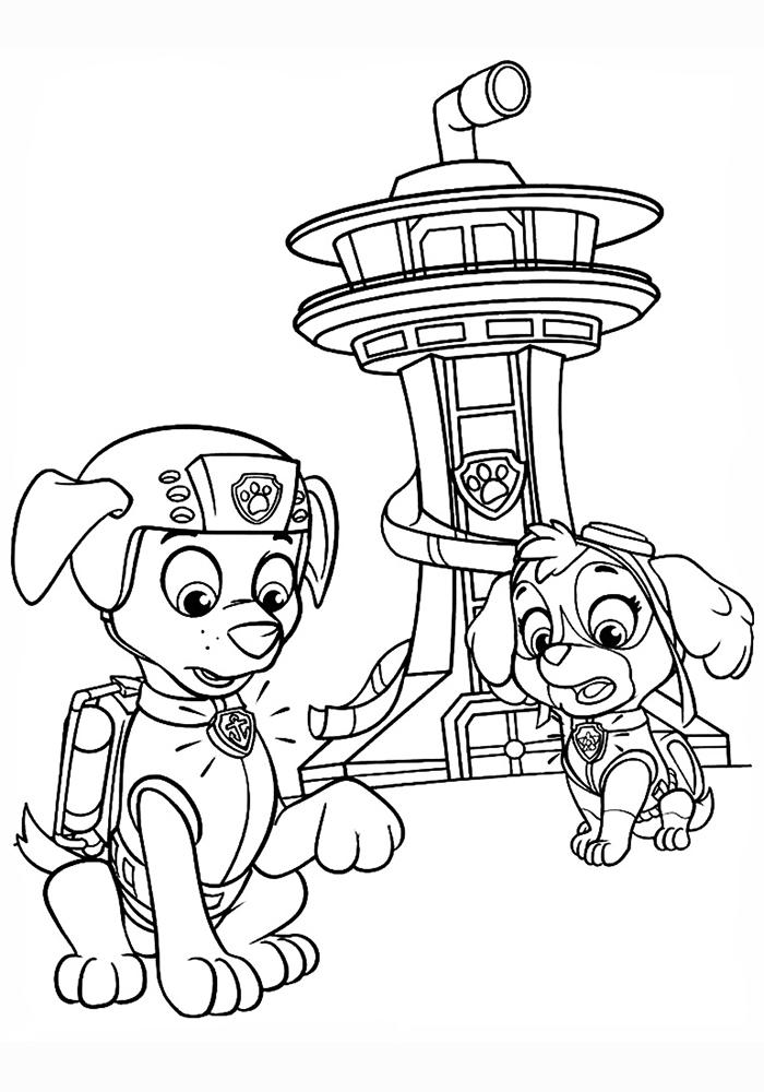 Печать картинки щенячий патруль