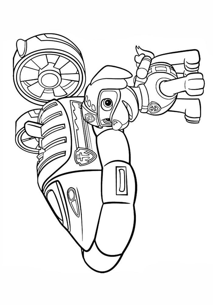 Раскраски для детей Щенячий патруль распечатать