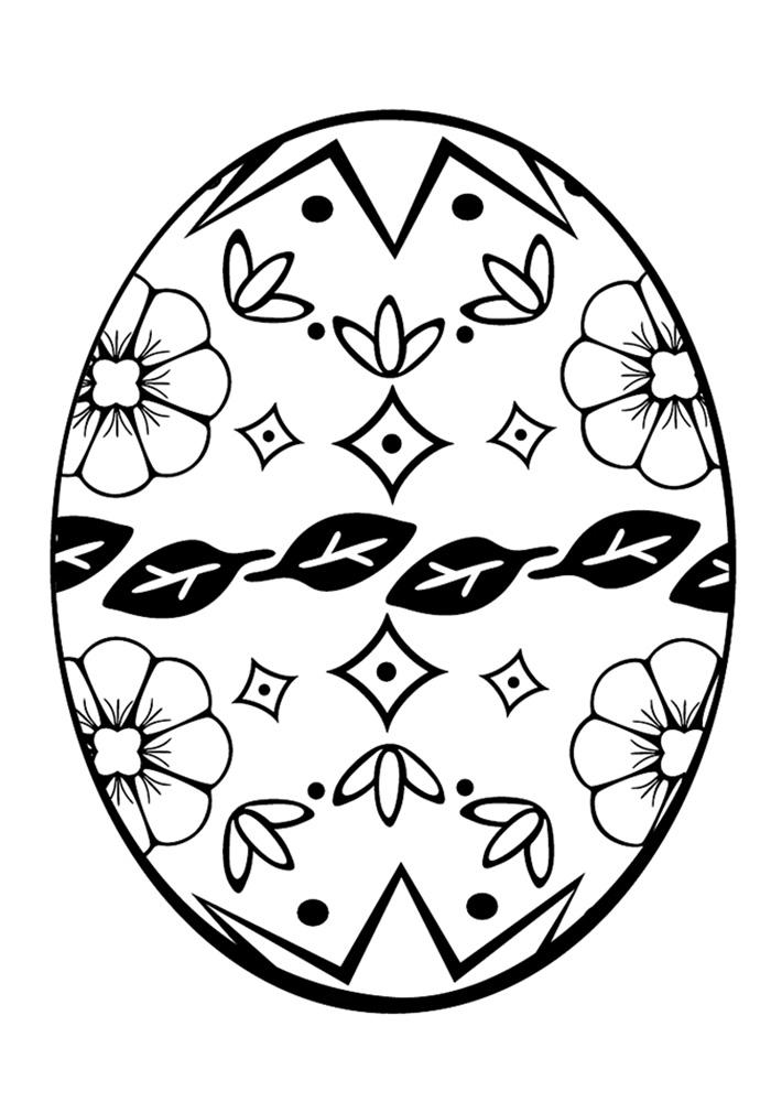 Раскраска на пасху яйцо