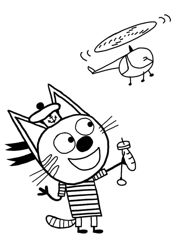 Скачать раскраски Три кота бесплатно